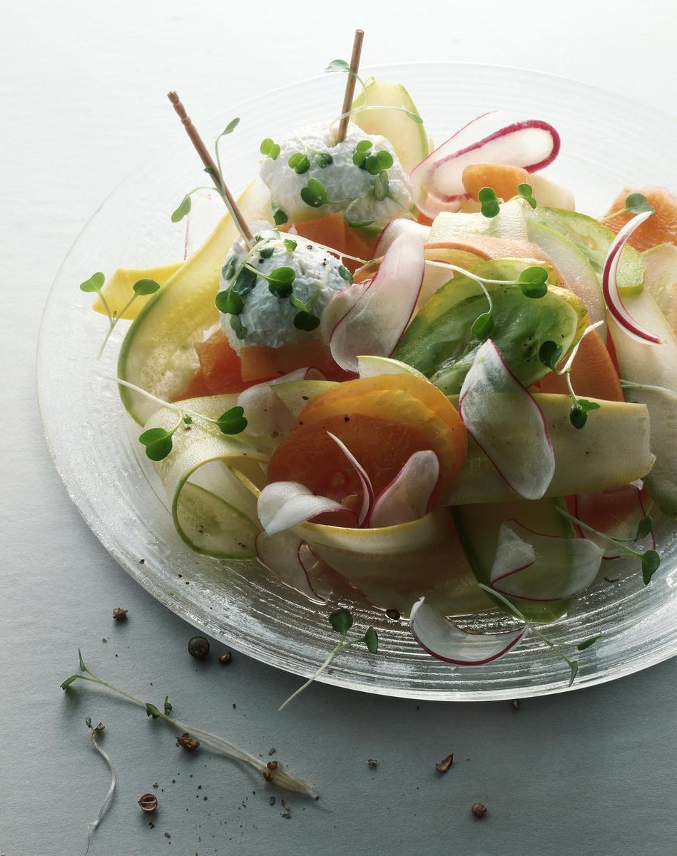 Recette salade végétarienne et grains de raisins au ...