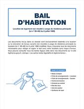 Dossier bail d'habitation non meublée - Version numérique