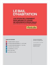 Dossier bail d'habitation non meublée - Version numérique (contrat signé depuis le 25 novembre 2018)
