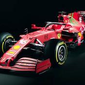 Ferrari présente sa monoplace 2021… avec une touche de vert