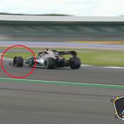 Formule 1 : L'improbable dernier tour de Lewis Hamilton sur trois roues à Silverstone