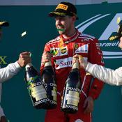 Sebastian Vettel, Lewis Hamilton et Valtteri Bottas