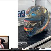 L'impressionnante photo du casque de Romain Grosjean après son crash