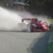 La violente sortie de route de Charles Leclerc à Monza