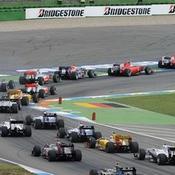 Premier virage du Grand Prix d'Allemagne