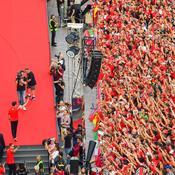 Bain de foule à Milan