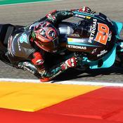 GP d'Aragon : après une grosse chute, Quartararo décroche la pole position