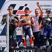 Moto GP : Marquez vers un 6e titre, Quartararo héros du jour