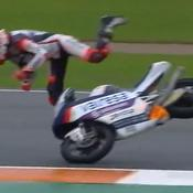 Moto : l'impressionnant crash d'un pilote espagnol au Grand Prix d'Europe