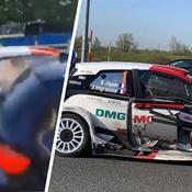 Rallye : Sébastien Ogier victime d'un incroyable accident de la route en liaison (vidéo)