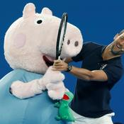 Novak Djokovic et Peppa Pig