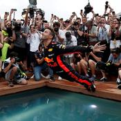 Daniel Ricciardo à l'eau