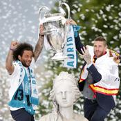 Marcelo et Ramos à Cibeles