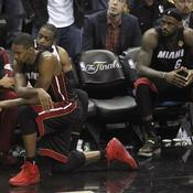 Shane Battier, Chris Bosh, Dwyane Wade et LeBron James