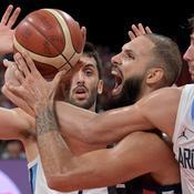 Evan Fournier face à l'Argentine