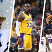 Stephen Curry, LeBron James et Rudy Gobert