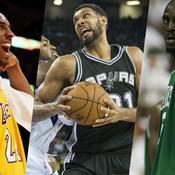 Kobe Bryant, Tim Duncan et Kevin Garnett