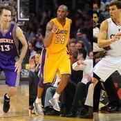 Steve Nash, Kobe Bryant, Blake Griffin