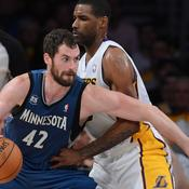 Los Angeles Lakers - Minnesota Timberwolves Shawne Williams Kevin Love