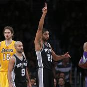 Pau Gasol, Tony Parker, Tim Duncan et Dwight Howard