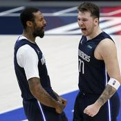 James Johnson et Luka Doncic - Crédit : Tom Pennington/Getty Images/AFP