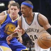Brooklyn Nets Golden State Warriors Paul Pierce (34) Klay Thompson (11)