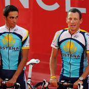 Lance Armstrong et Alberto Contador