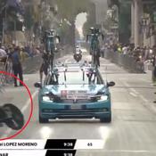 Tour d'Italie : l'impressionnante chute en ligne droite du Colombien Lopez, contraint à l'abandon