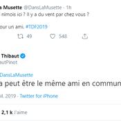 Quand Thibaut Pinot s'amuse de sa mésaventure de la bordure à Albi