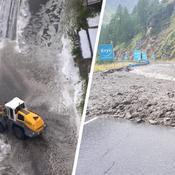 Tour de France : grêle et coulée de boue, les images du chaos qui a stoppé la 19e étape