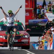 Vuelta : King roi de la montagne, Simon Yates en rouge