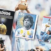 «AD10S», «Dieu du football», «génie rebelle», la mort de Diego Maradona tapisse les unes de la presse internationale