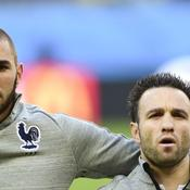 Benzema et Valbuena sous le maillot de l'équipe de France
