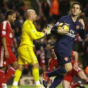 Liverpool-Arsenal Cesc Fabregas