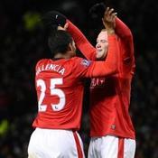 Wayne Ronney et Antonio Valencia-Manchester United