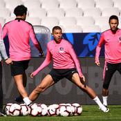 Kylian Mbappé, Neymar et les Parisiens à l'entraînement
