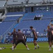 L'entraînement du PSG