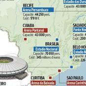 La carte des stades