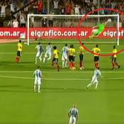 Le splendide coup-franc de Messi contre la Colombie