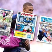 Coupe du monde 2018 : Folie, bonheur, Mbappé en messie… La presse française s'emballe pour les Bleus