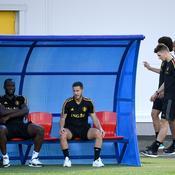 Romelu Lukaku et Eden Hazard