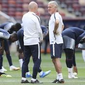 Didier Deschamps à l'entraînement