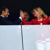 Emmanuel Macron et Kolinda Grabar-Kitarovic