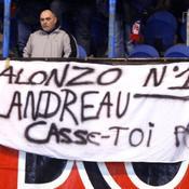 PSG-Auxerre, Banderole Mickaël Landreau
