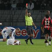Auxerre-Nice, expulsion d'Hellebuyck