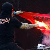 Hooligans Italie-Serbie