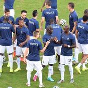 Echauffement Equipe de France