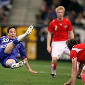 Les Bleus contre l'Autriche en mars 2007