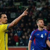 Moldavie - Suède : Ibrahimovic but