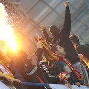 Monténégro - Russie : Fans monténégrins